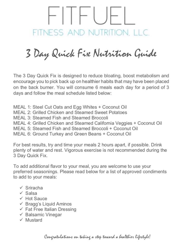 3 Day Quick Fix
